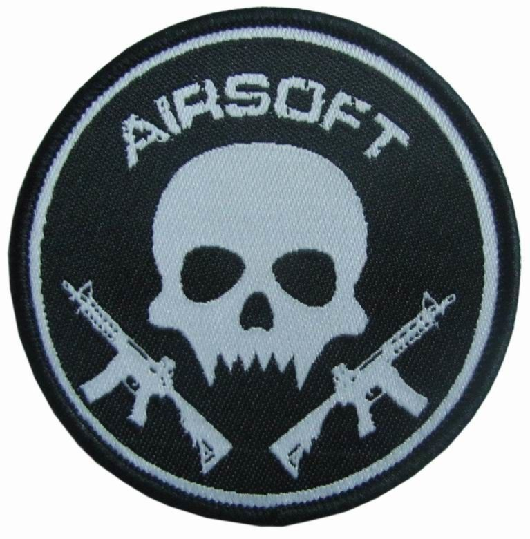 Machine Custom Woven Patches Laser Cut Border For Cap And Clothing